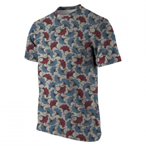 Olotu Holiday Ankara Batik Wax Print T-shirt