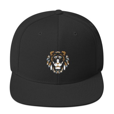 Olotu Lion Head Black Snapback Cap